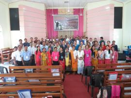 Group photos during Preacher and Pastor Workshop at Cherangre Baptist Church, Tura